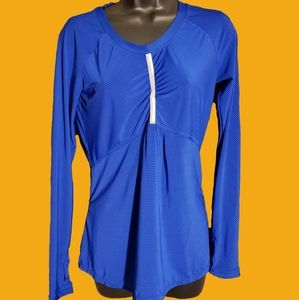 Athleta Women's XS Cobalt Blue Long Sleeve Top